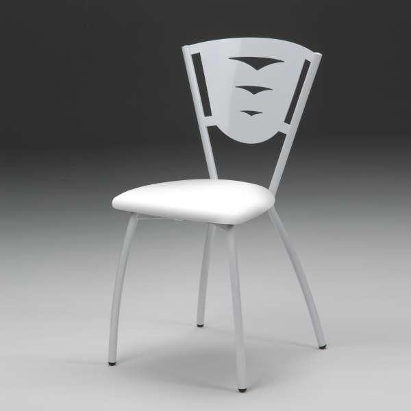 Chaise en métal industriel fabriquée en France - Hévéa - 3