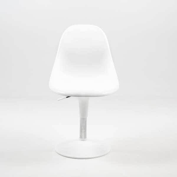 Chaise réglable et pivotante design blanche - Harmony - 5