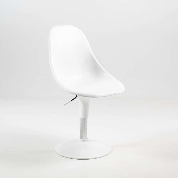 Chaise réglable en hauteur et pivotante design blanche - Harmony - 4