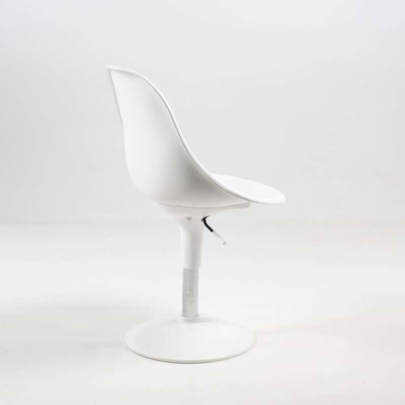 Chaise réglable en hauteur et pivotante design en technopolymère ...