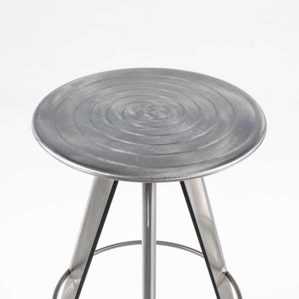 Tabouret de bar tendance en métal style industriel assise spirale - Vérone - 7