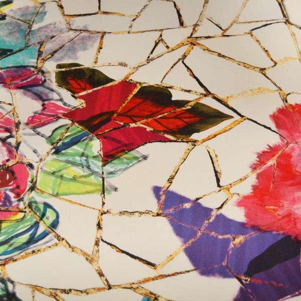 Fauteuil cabriolet Louis 16 tissu avec motifs roses  - Quentin - 8