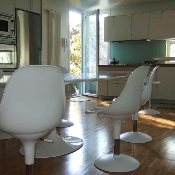 Chaise réglable en hauteur et pivotante design en technopolymère blanc - Harmony - 2