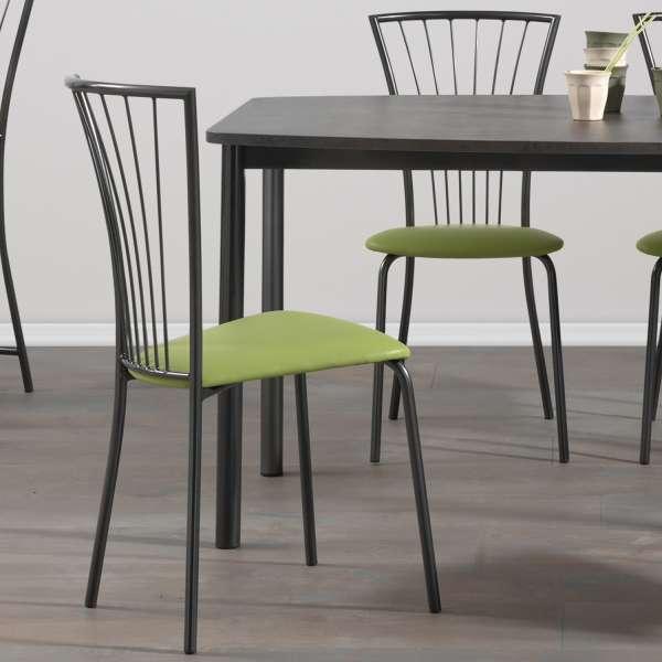 Chaise de cuisine rembourrée avec pieds métal - Jana