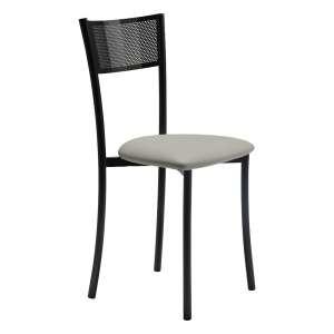 Chaise contemporaine en synthétique et métal dossier ajouré made in france - Wasabi