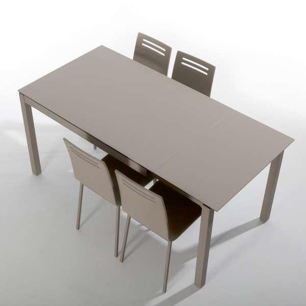 Table petit espace en céramique café avec allonge - Céleste - 2