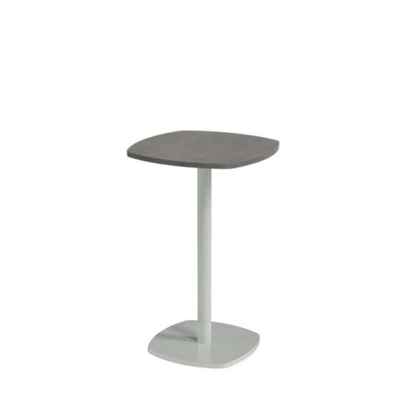 Petite table de cuisine carrée aux bords arrondis avec pied central - Circa - 3