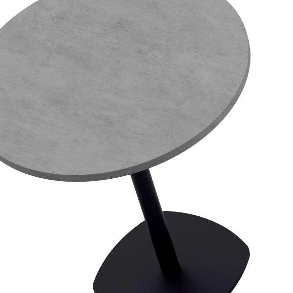 Table snack de cuisine ronde en stratifié diamètre 70 cm - Circa 2 - 2