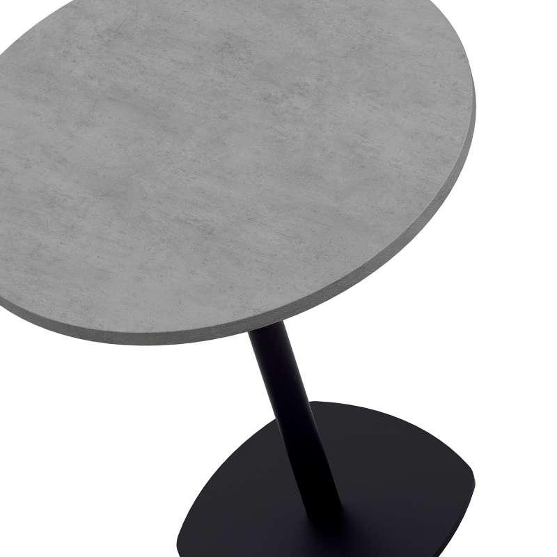 Table Ronde 70 Cm.Table Snack De Cuisine Ronde En Stratifie Diametre 70 Cm Avec Pied Central Circa