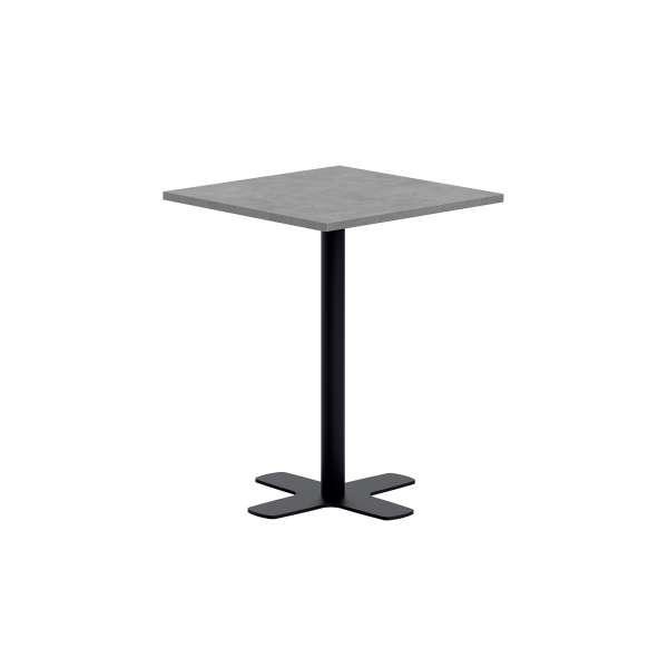 Petite table snack carrée en stratifié avec pied central en métal - Spinner - 1