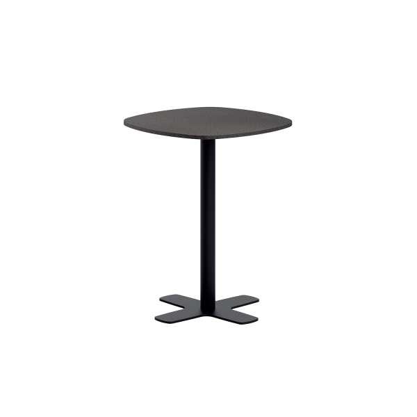 Table snack de cuisine en stratifié avec pied central coins arrondis - Spinner - 1