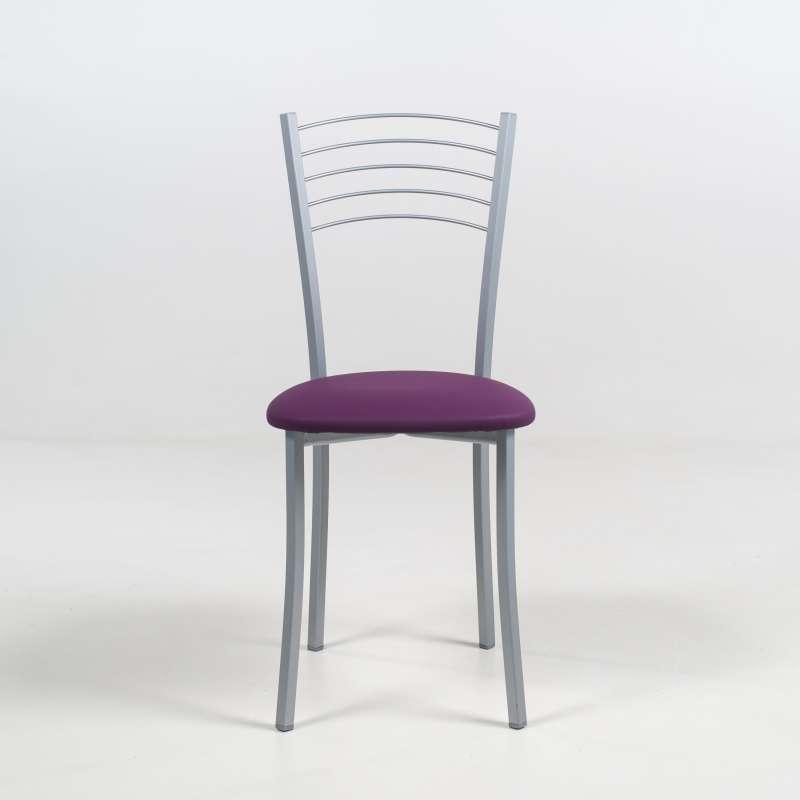 chaise de cuisine en aluminium