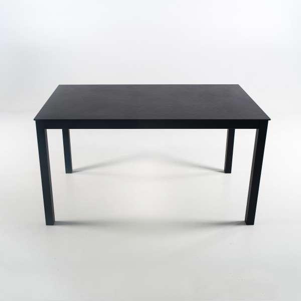 Table rectangulaire en dekton noir et pieds en métal - Millenium 4 - 4