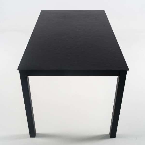 Table rectangulaire en dekton noir et pieds en métal - Millenium 4 - 6
