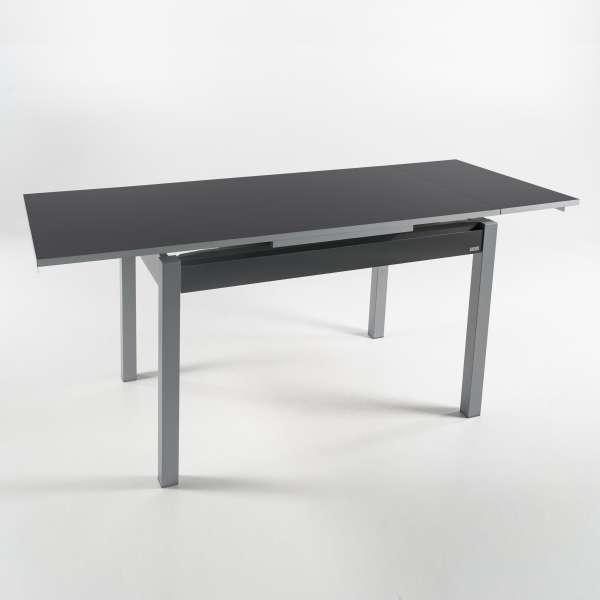 Petite table de cuisine gris foncé avec deux allonges - Iris - 10