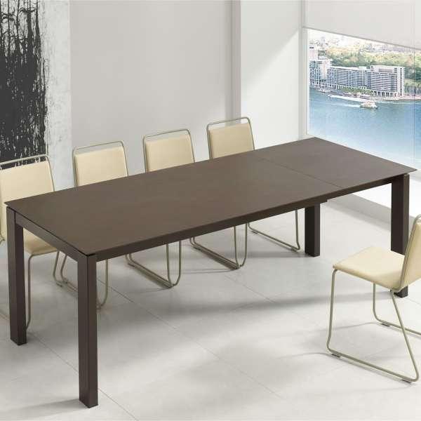 Table rectangulaire extensible avec plateau en dekton et pieds en métal - Evento - 1