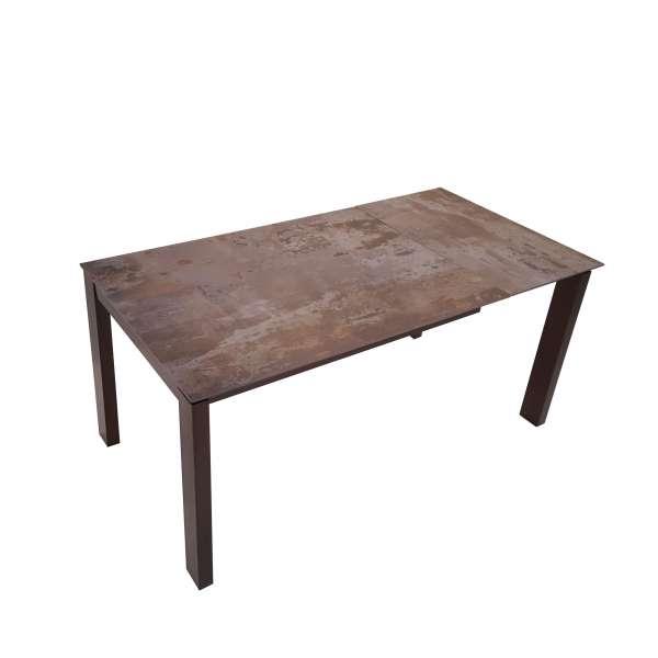 Table extensible avec plateau en dekton et pieds en métal - Evento - 3