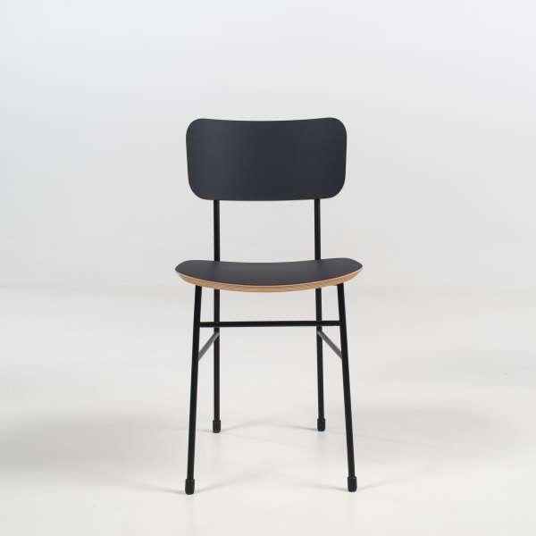 Chaise vintage en fénix noir et métal noir - Master S Midj® - 4