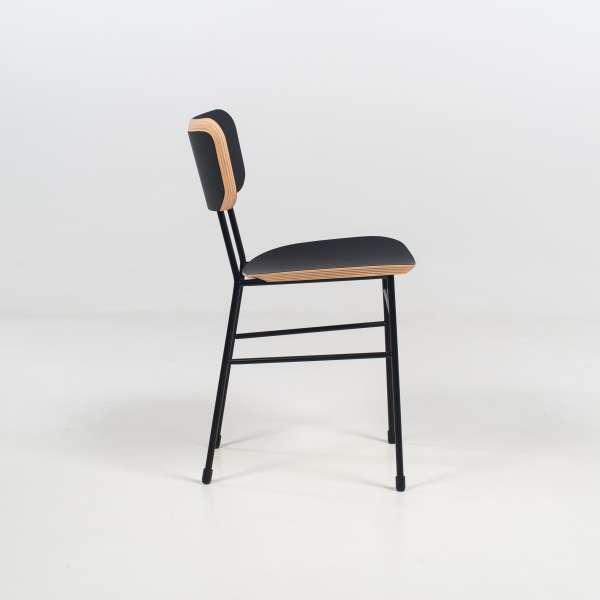 Chaise rétro noire et métal noir - Master S Midj® - 5