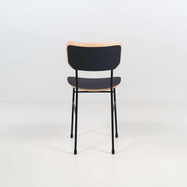 Chaise rétro en fénix noir et métal noir - Master S Midj® - 7