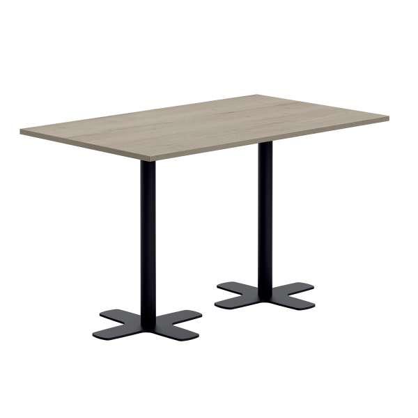 Table hauteur 90 cm en stratifié rectangulaire avec deux pieds - Spinner 2 - 2