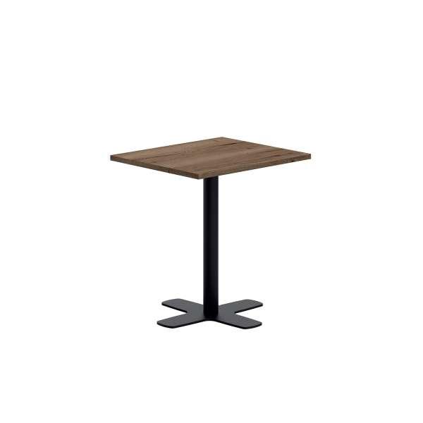 Pied central de table en métal noir avec base en croix - Spinner - 2