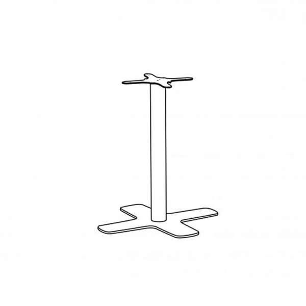 Pied central de table en métal avec base en croix - Spinner - 1