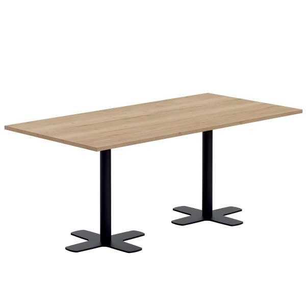 Table en stratifié rectangulaire avec deux pieds - Spinner 2 - 1