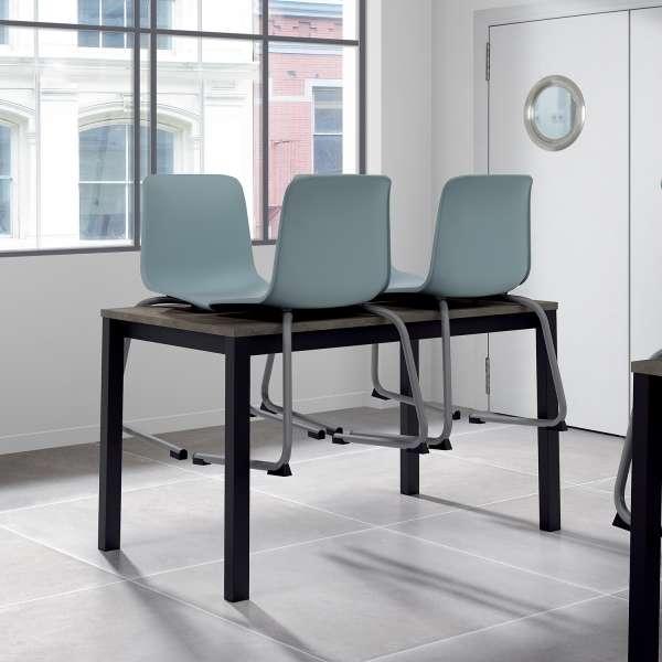 Chaise pied luge inversé empilable rangement facile - Proza - 4