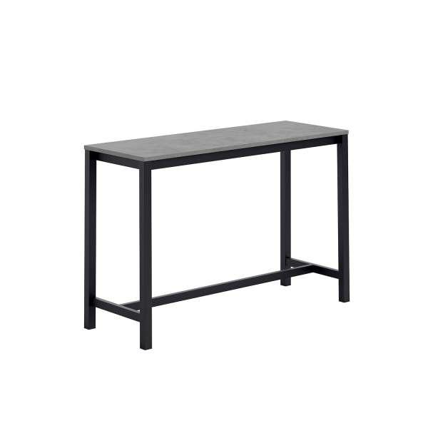 Table haute de cuisine en stratifié gris et métal noir 160 x 60 cm - Vienna - 2