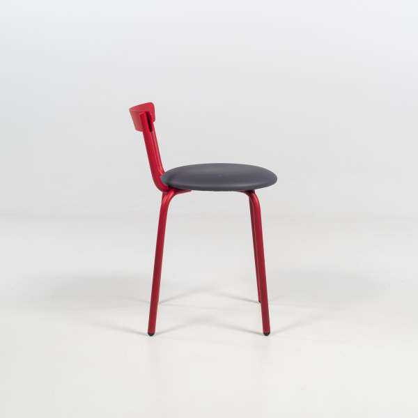 Chaise de fabrication française coloris rouge - Xoxo - 5