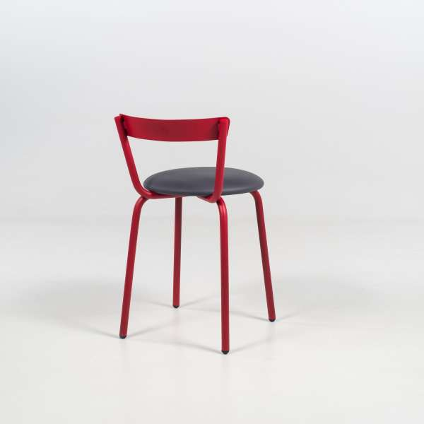 Chaise de cuisine made in France rouge et grise - Xoxo - 6
