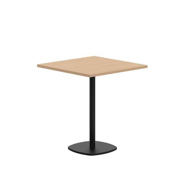 Petite table de cuisine carrée en stratifié avec pied central - Circa