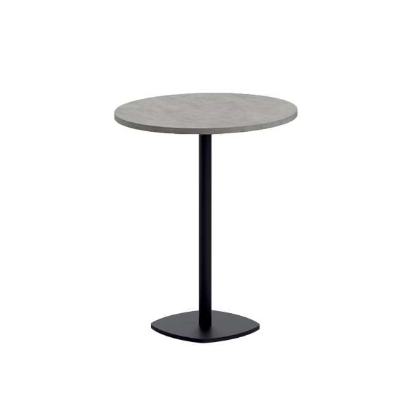 Table snack de cuisine ronde en stratifié diamètre 70 cm - Circa - 1