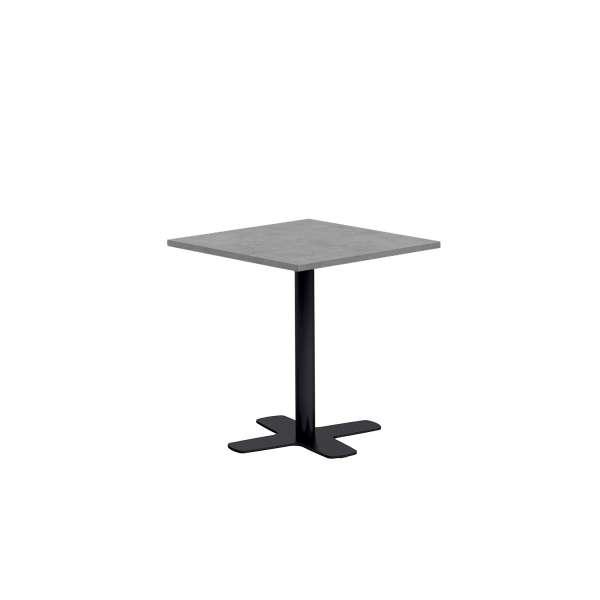 Table de cuisine carrée en stratifié avec pied central - Spinner