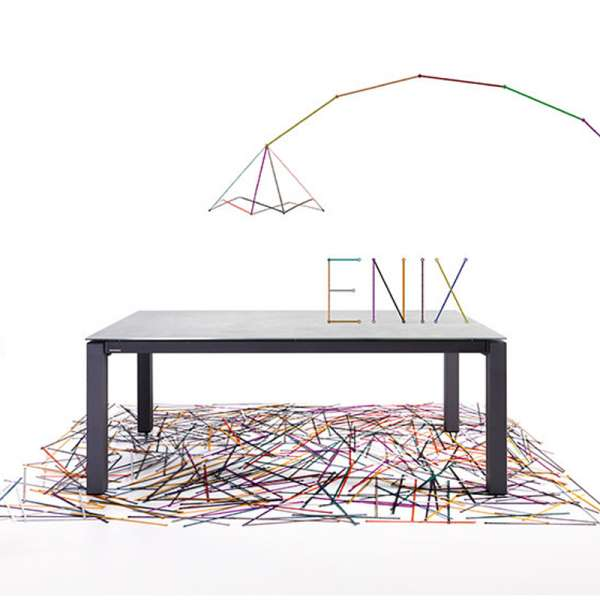 Table mobliberica® en céramique avec allonges  - Enix