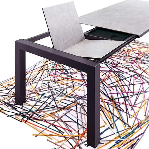 Table mobliberica® en céramique grise pour salle à manger avec allonge - Enix - 2