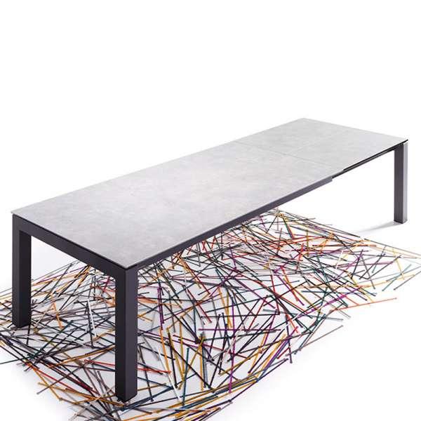 Table mobliberica® en céramique grise pour séjour extensible - Enix - 3