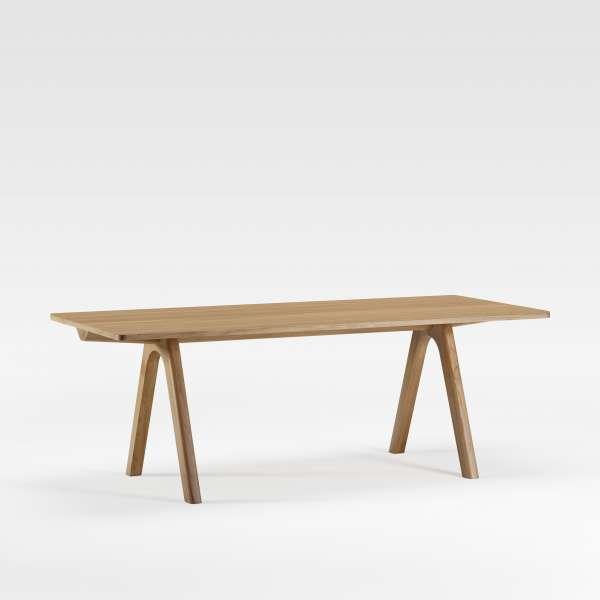 Table de designer en bois naturel de fabrication française - Chevron - 1