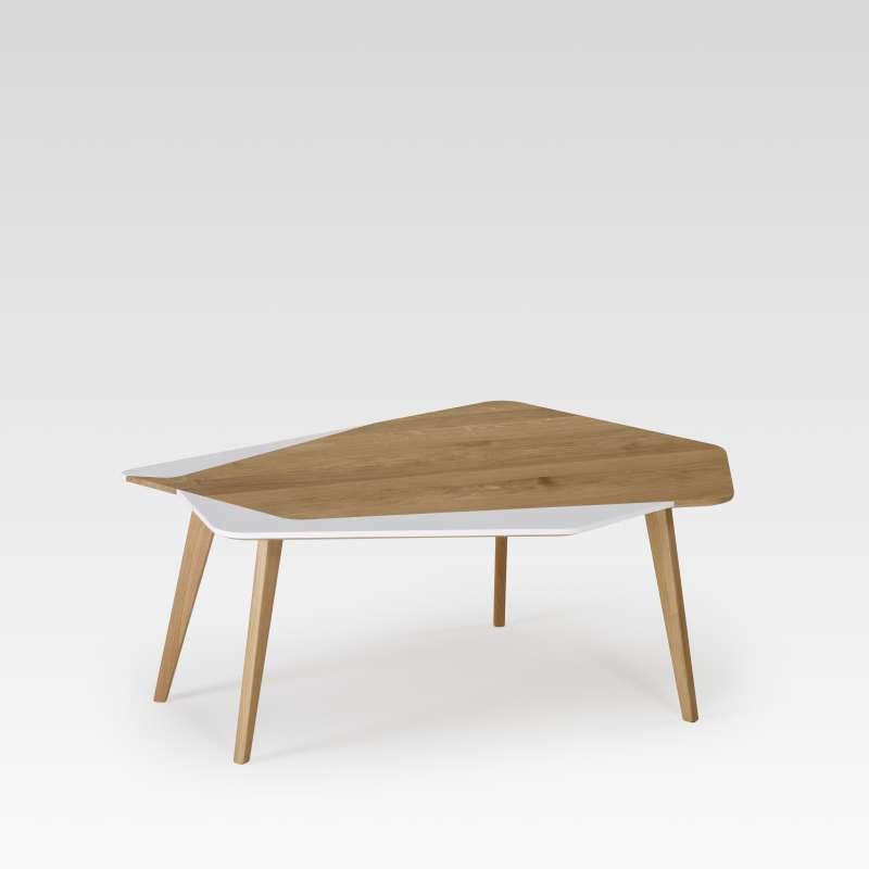 plus de photos bddc3 4cd86 Table basse scandinave en bois massif fabrication française - Flo 71
