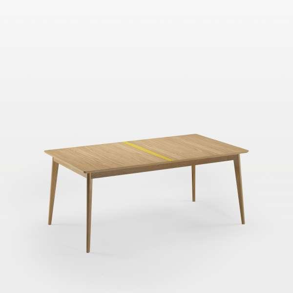 Table en bois scandinave fabrication française avec liseré coloré - Paul 666 - 2