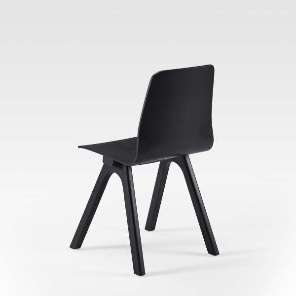 Chaise de designer en bois noir fabrication française - Chevron - 7