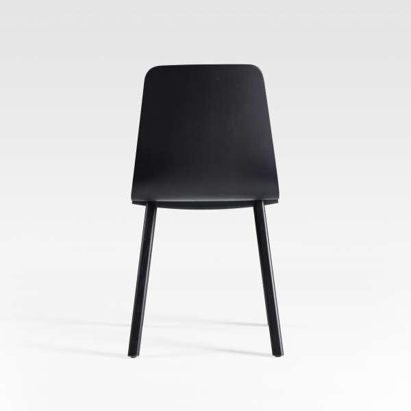 Chaise design en bois noir fabriquée en France - Chevron - 8