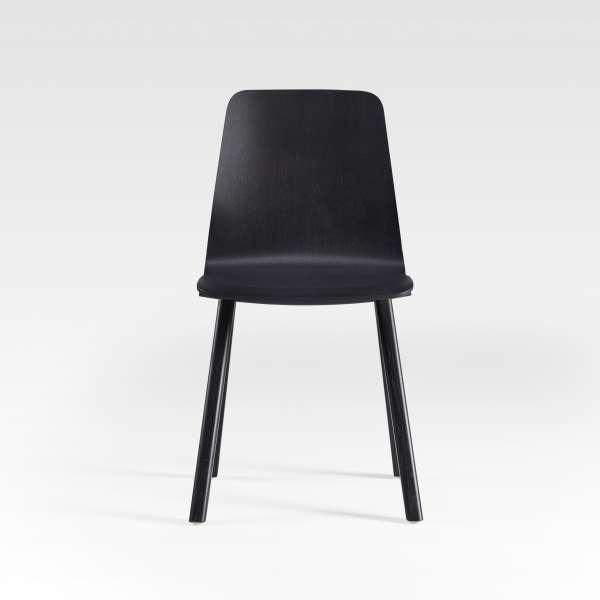 Chaise design en bois noir fabrication française - Chevron - 9