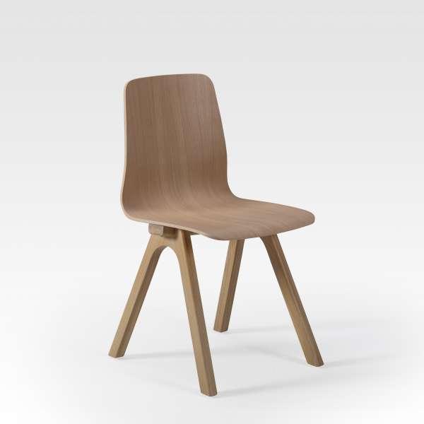 Chaise de designer en bois naturel fabriquée en France - Chevron - 1