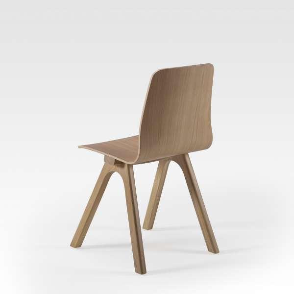 Chaise de designer en bois naturel fabrication française - Chevron - 2