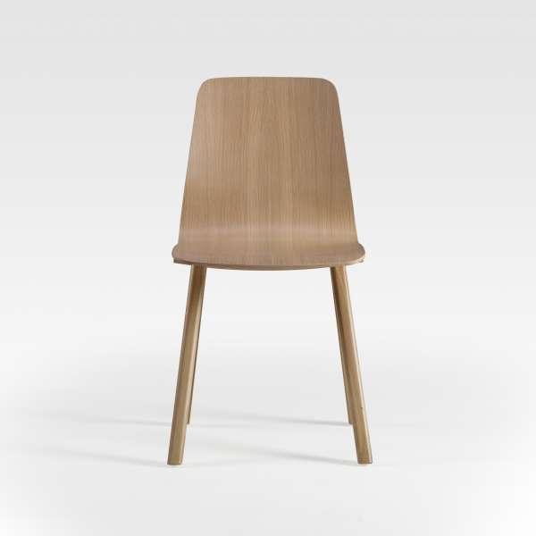 Chaise design en bois naturel fabrication française - Chevron - 4