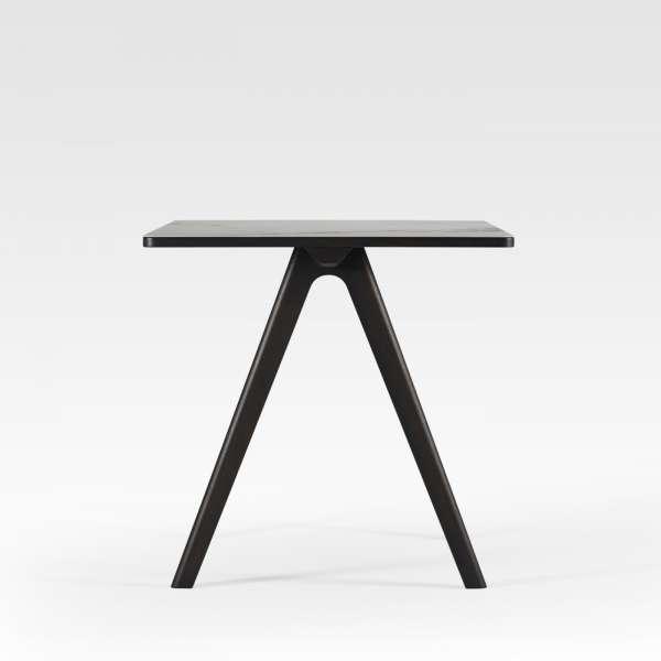 Table haute de designer en céramique et bois de fabrication française - Chevron - 3