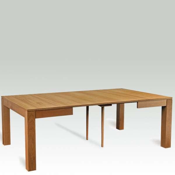 Table française carrée extensible en bois massif  – Moderne MC - 2