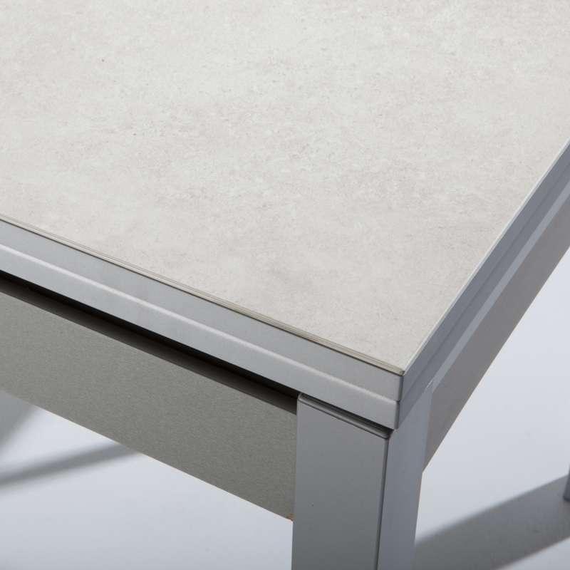 Petite table de cuisine extensible en céramique avec tiroir pieds ...
